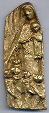 #26 Bronzeplakette, JOSEPH KRAUTWALD,  Schutzmantelmadonna, Madonna, Bronze
