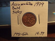 CANADA ONE CENT 1979 Accumulations both side MS-++!! Full Red