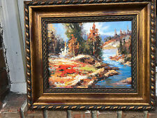 """OIL Painting-TEXTURED LANDSCAPEN NEW/Unused 8""""X10""""-Framed-EXCELLENT"""