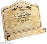 Vintage Style Recipe Cook Book Stand Rest Wooden Distressed shabby chic Gift