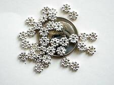 50 Bali Sterling Silver Bright Daisy Spacer Beads - 4mm