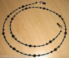 Black Teal Amethyst Matte Bead Mix Eyeglass Chain Holder