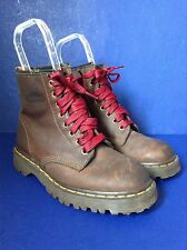 Womens Doc Dr Martens 1460 Crazy Horse Brown Leather Ankle Boots~UK 6/ US 8