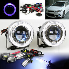 """3"""" BLUE LED HALO PROJECTOR FOG LIGHTS W/ SWITCH FOR CHEVY+10000K BLUE HID KIT"""