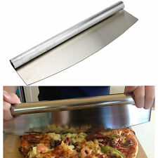 NEW PROFESSIONAL STAINLESS STEEL 18/10  PIZZA CUTTER ROCKER KNIFE SLICER KITCHEN