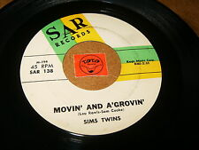SIMS TWINS - MOVIN AND A'GROVIN - THAT'S WHERE    / LISTEN - RNB SOUL POPCORN