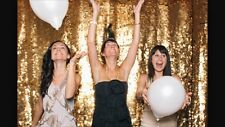 Sparkly Gold Sequin Glamorous Tablecloth/Backdrop for Wedding Decoration