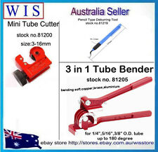 3 in 1 Tube Pipe Bender 1/4,5/16,3/8 Pipe with Tube Cutter & Free Deburring Tool