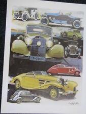 Litho Mercedes-Benz Oldtimer models (JS)