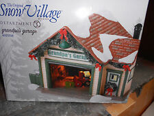DEPT 56 SNOW VILLAGE GRANDPA'S GARAGE NIB