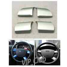 4PCS Silver Chrome Steering Wheel Cover Sticker Decor For Ford Focus 2005-2009