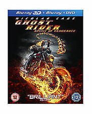 Ghost Rider - Spirit Of Vengeance (3D Blu-ray, 2012, 3-Disc Set)