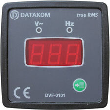 DATAKOM DVF-0101 72x72 Digital Voltmeter and Frequencymeter Panel (1 Phase)