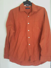 MEN'S NAUTICA PUMKING ORANGE   DRESS SHIRT SZ XL