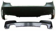 BMW 1M STYLE REAR BUMPER QUAD EXHAUST CUTOUT FOR 2008 - 2013 E82 1 SERIES NO PDC