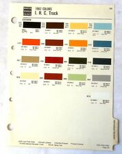 1982 INTERNATIONAL TRUCK SHERWIN WILLIAMS  COLOR PAINT CHIP CHART ALL MODELS