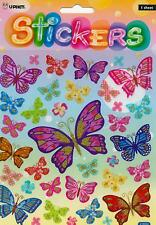 LARGE GLITTER BUTTERFLY STICKERS,TEACHERS AID,SCHOOL,KIDS,GIFT,SCRAPBOOKING