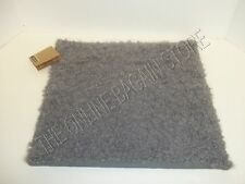 """Pottery Barn West Elm Alpaca Hand Loomed Fur Sofa Pillow Cover Steel 24"""" Square"""
