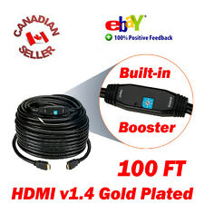 100ft HDMI 1.4 Cable M-Male TV 3D DVD PS3 PS4 HDTV 30M 1080p w/ Signal Booster