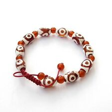 Tibet Agate Gem Heaven Eye Beads Buddhist Prayer Bracelet Mala