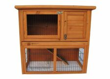2 Storey wood Rabbit bunny Hutch Cage House Coop Cage Water Resistant w/ TRAY