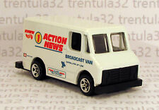 5 PACK EXCLUSIVE ACTION NEWS BROADCAST VAN DELIVERY TRUCK WHITE HOT WHEELS LOOSE