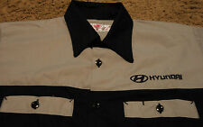 Mens HYUNDAI Short Sleeve Mechanic Style Short Sleeve Shirt Large By Red Kap NEW