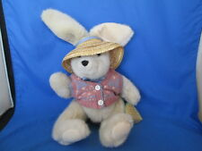 "Honeysuckle Hollow Bunny Rabbit 12""  Plush Stuffed Animal Jointed Limbs With Tag"