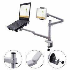 2 In 1 Laptop & Ipad Stand 360° Rotating Height Adjustable Tablets Desk Mount