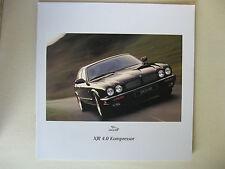 Prospekt Jaguar XJR 4.0 320 PS AJ16 Kompressor X300 X306 Modell 1997 deutsch