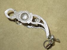 L@@K~Excellent Quality RAWHIDE MEXICO Western STERLING SILVER Filigree Curb Bit