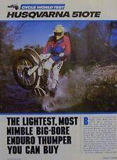 1985 HUSQUVARNA 510TE Motorcycle Test Article 510 TE