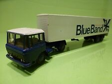 LION CAR 65 36 DAF 2600 TRUCK + EUROTRAILER - BLUE BAND - BLUE 1:50 - PROMO