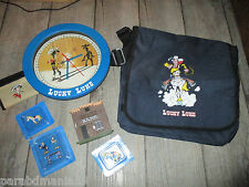 lot lucky luke-Figurines plomb sous blister-Porte feuille-Cartable-Horloge