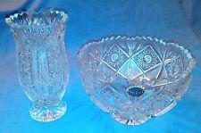 STUNNING VINTAGE BOHEMIA CZECH CRYSTAL Bowl/Vase  + FREE GIFT