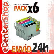 6 Cartuchos T0551 T0552 T0553 T0554 NON-OEM Epson Stylus Photo RX425 24H