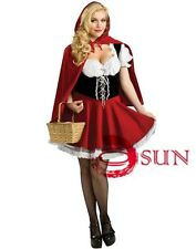 Women Sexy Lingerie Little Red Cap Hat Fancy Dress Costume Cosplay Halloween