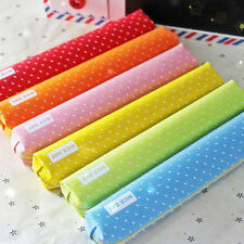 Pencil case Kawaii dot Canvas pen bag Stationery pouch  office school supplies E