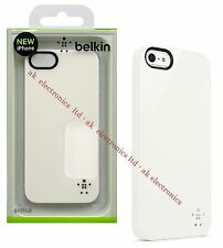 NUEVO genuino UK Belkin Escudo duro protectora caso cubierta de blanco para Apple iPhone 5