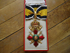 Bulgarian Order of Military Merit - Commander's Cross with box