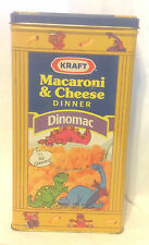 KRAFT MACARONI & CHEESE DINNER DINOMAC & ORIGINAL TIN CHEESASAURUS REX VGC vtm