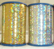 2 x Spools Holographic LUREX Premium Thread 1 Gold + 1 Silver NEW COLLECTION UK