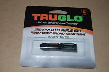 Truglo Semi-Auto Rifle Set Fiber-Optic Front/Rear Sight Ruger 10/22
