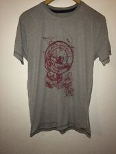 ALS Organic Cotton Mix T Shirt Top Size S Grey With Picture To Front  R5670
