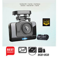 "Lukas V975 / LK9350 Dash Camera 2CH Full-HD UV Filter 3.5""LCD Dual Korea 8G+8G"