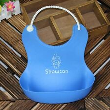 New Cute Unisex Baby Infants Kids Lunch Eating Feeding Waterproof Silicone Bibs