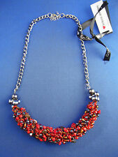 NUOVO Stile Etnico Pietra Perline breve collana gioielli rosso da KELEVRA