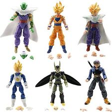 "6x Dragon Ball Z 5"" Figures: Piccolo Cell Trunks Super Saiyan Goku Gohan Vegeta"