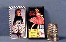 Dollhouse Miniature 1:12  Miss Revlon Doll Box  1950s retro dollhouse girl toy