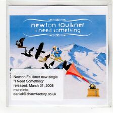 (FO503) Newton Faulkner, I Need Something - 2008 DJ CD